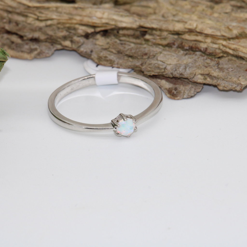 Opal Silver Ring Size 12