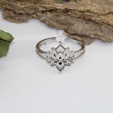 Lotus Silver Ring Size 12