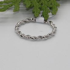 Twined Rope Silver Ring Size 9