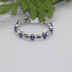 Tanzanite Silver Ring Size 8