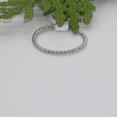 Beads Silver Ring Size 7