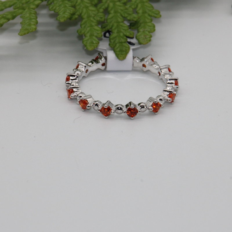 Carnelian Band Silver Ring Size 4