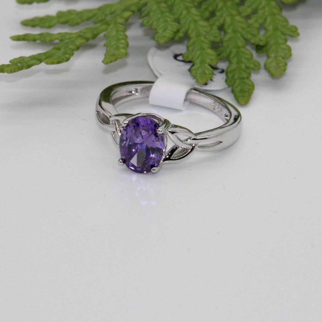 Amethyst Silver Ring Size 5