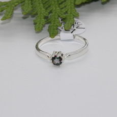Mystic Topas Silver Ring Size 7