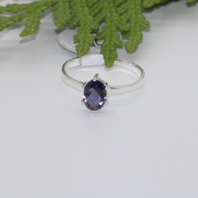 Iolite Silver Rings Size 6