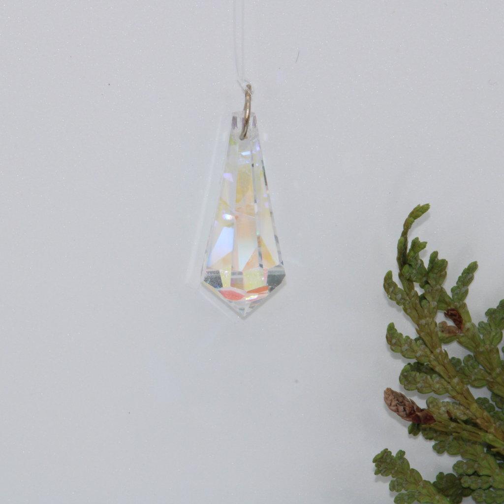 Pencil Drop Iridescent Window Crystal