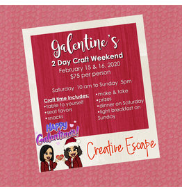 Creative Escape 02/15 Galentine's 2 Day Craft Weekend