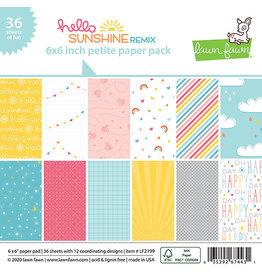 lawn fawn LF hello sunshine remix 6x6 petite paper pack