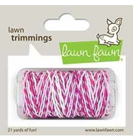 lawn fawn LF Twine pretty in pink sparkle cord