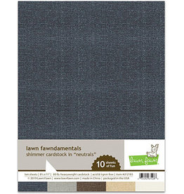 lawn fawn LF shimmer cardstock - neutrals