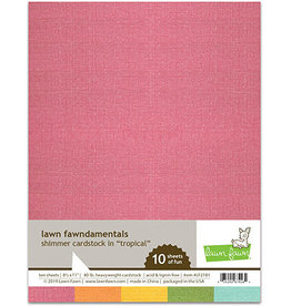 lawn fawn LF shimmer cardstock - tropical