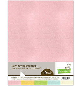 lawn fawn LF shimmer cardstock - pastel