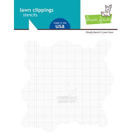 lawn fawn Cloudy Stencil