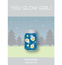 lawn fawn LF Pin you glow girl enamel pin