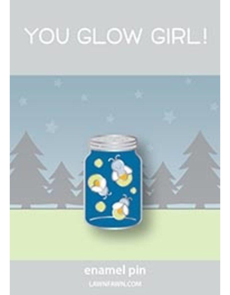 lawn fawn LF Pin you glow girl enamel pin