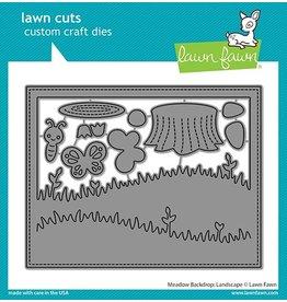 lawn fawn LF Dies meadow backdrop: landscape