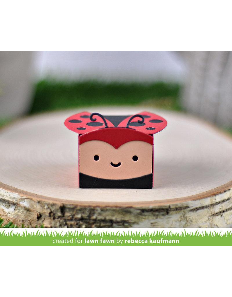 lawn fawn LF Dies tiny gift box ladybug add-on