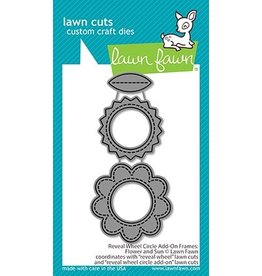 lawn fawn LF Dies reveal wheel circle add-on frames: flower and sun