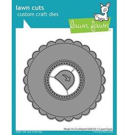 lawn fawn LF Dies magic iris scalloped add-on