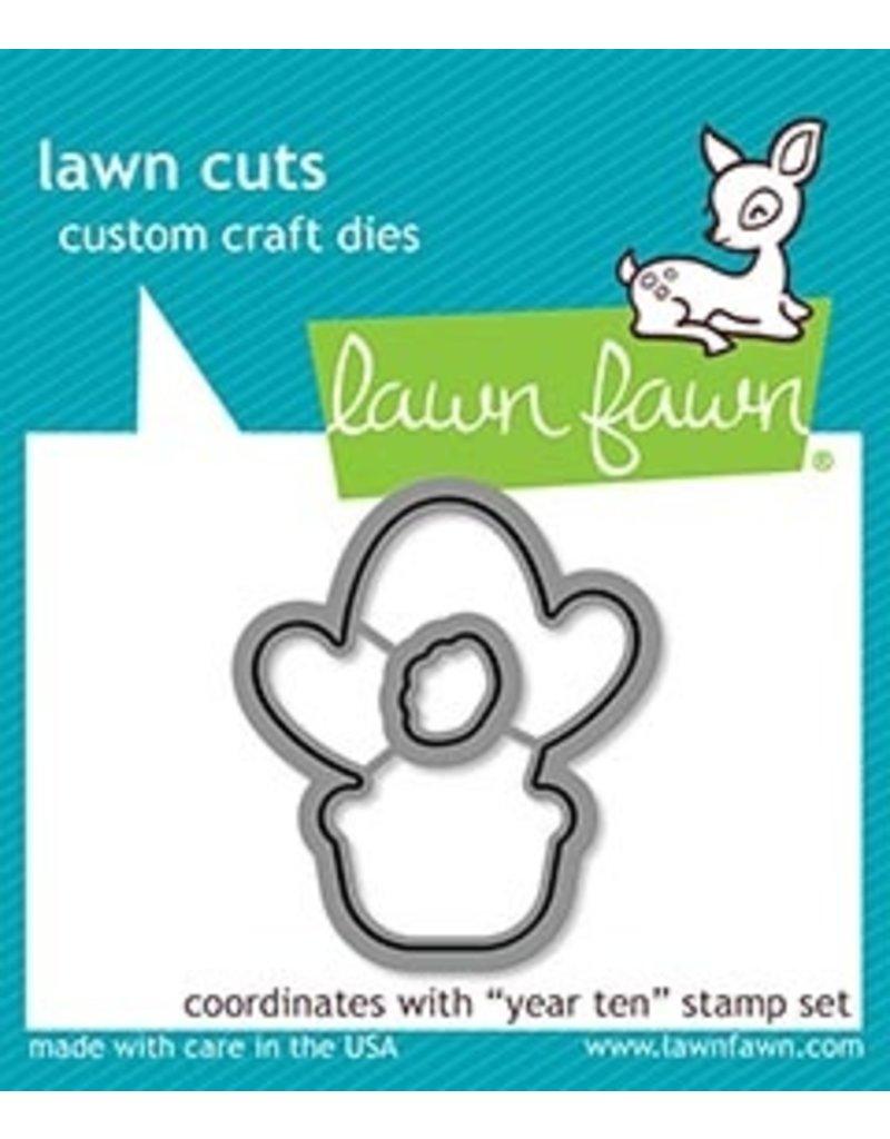 lawn fawn LF Dies year ten - lawn cuts