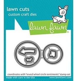 lawn fawn LF Dies reveal wheel circle sentiments - lawn cuts