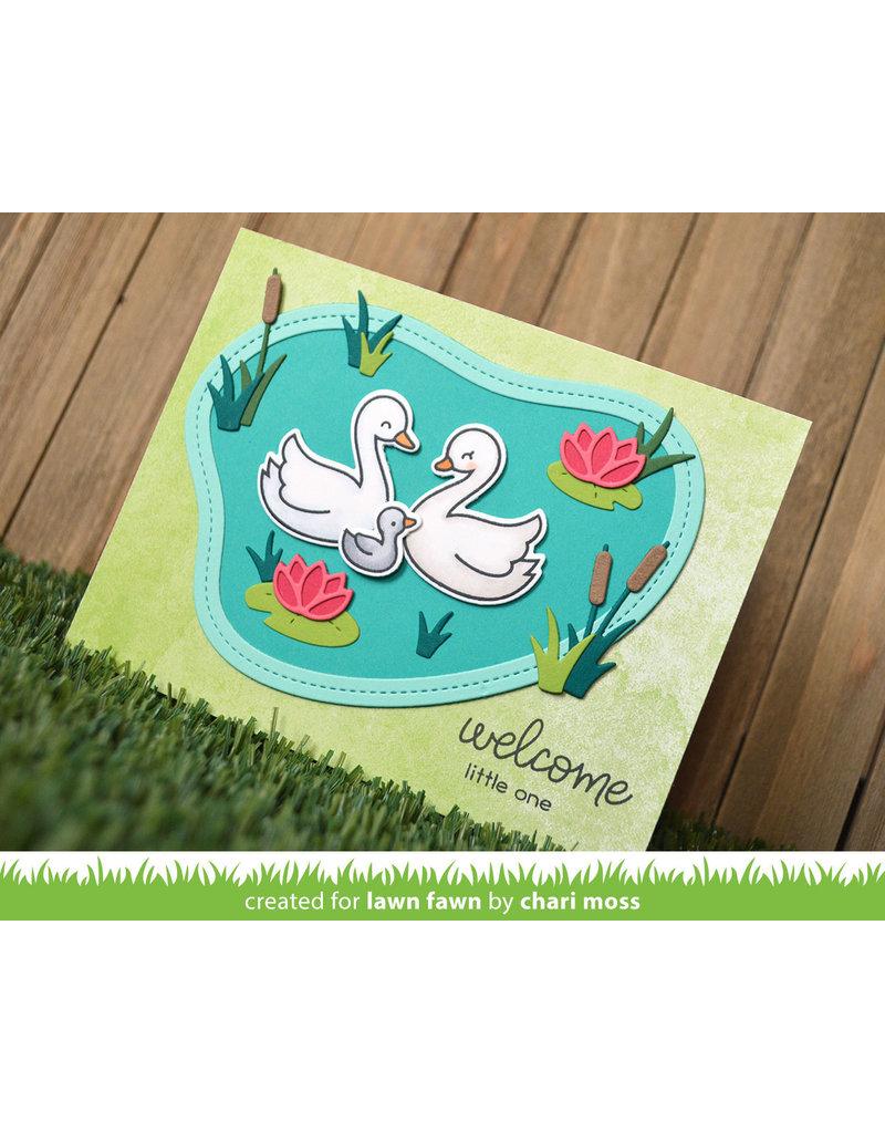 lawn fawn LF Dies stitched pond frame