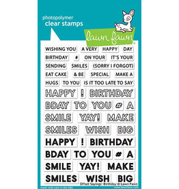 lawn fawn LF Stamp offset sayings: birthday