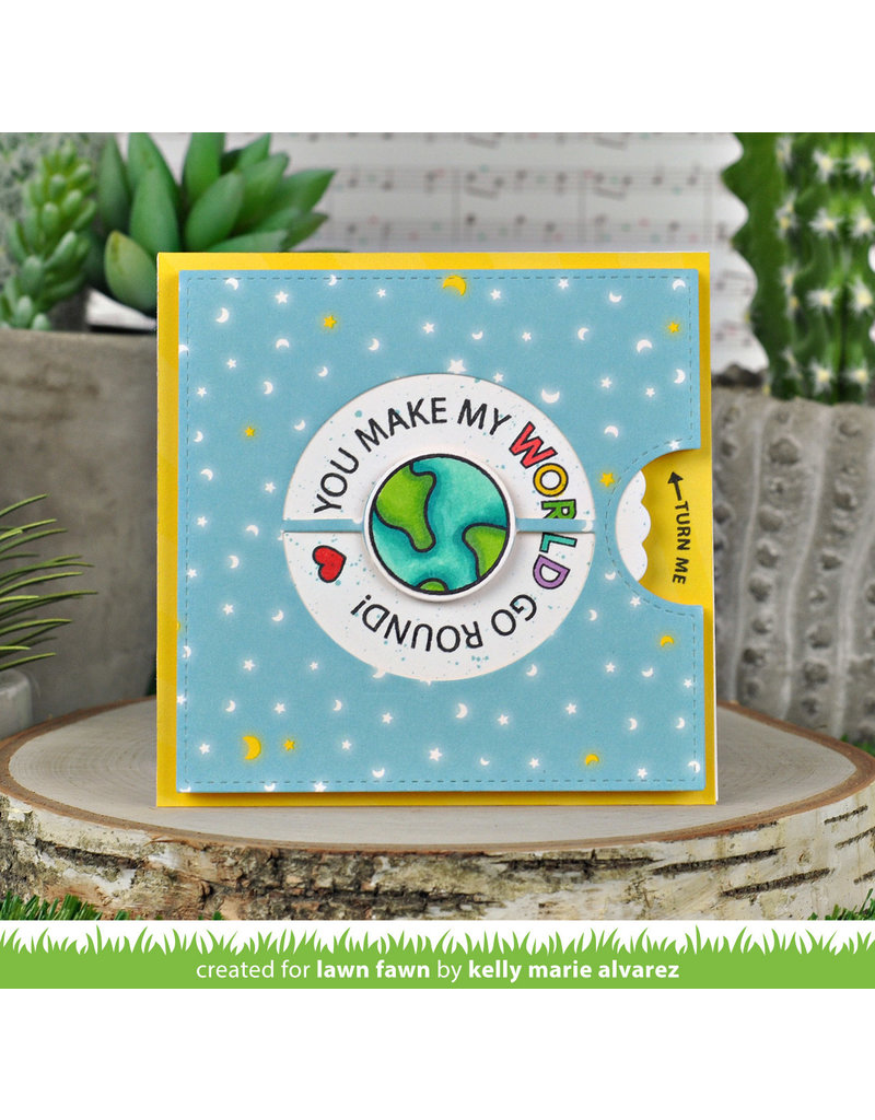 lawn fawn LF Stamp reveal wheel circle sentiments