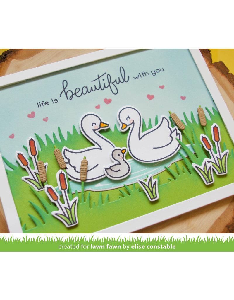 lawn fawn LF Stamp swan soiree
