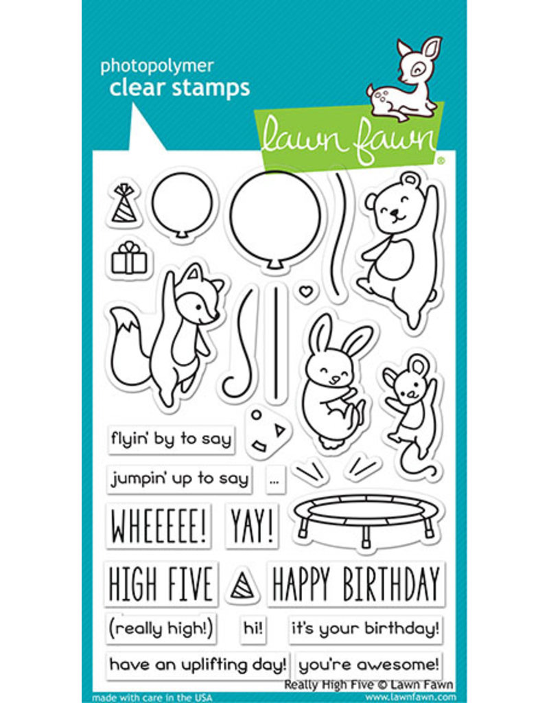 lawn fawn LF Stamp really high five