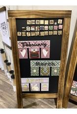 Creative Escape 03/20 Foundations Wood Calendar