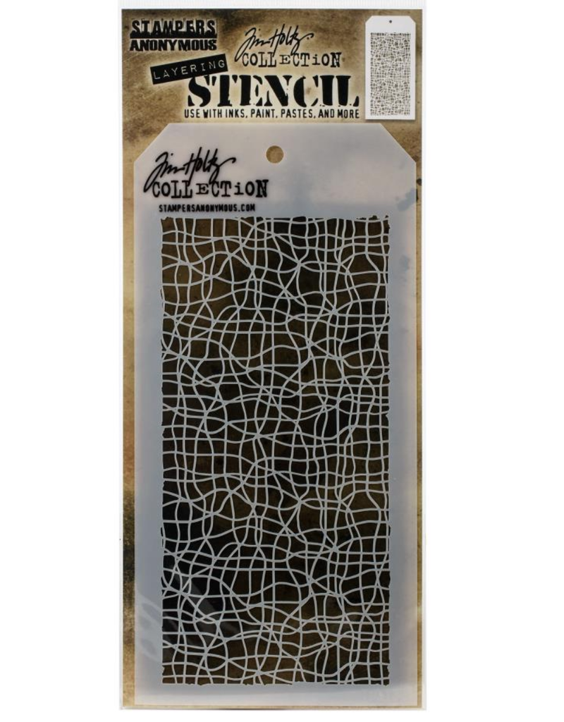 stampers anonymous SA TH Tangled Layered Stencil