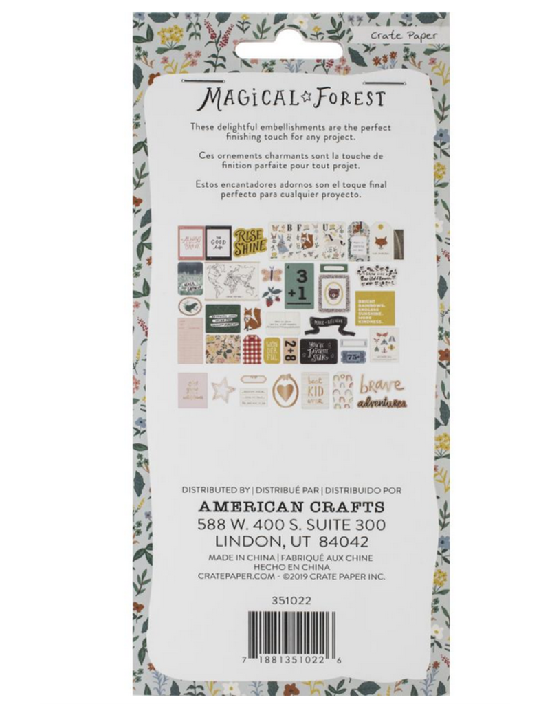 american crafts AC CP Ephemera Magical Forest