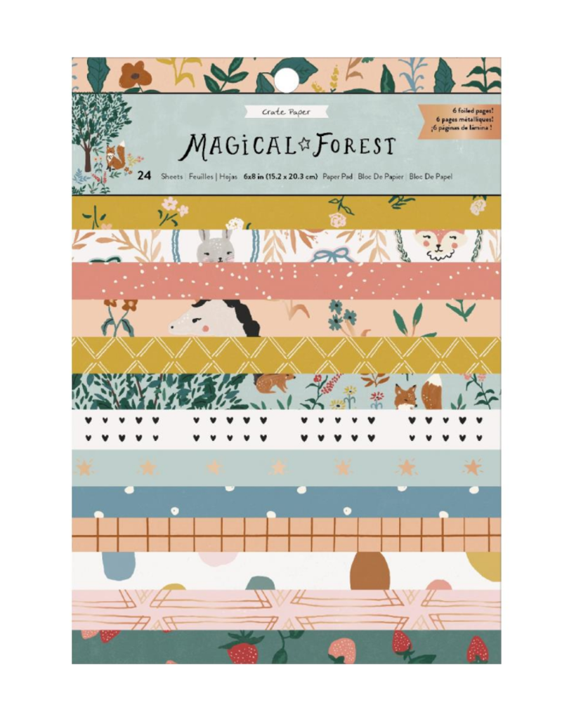 american crafts CP MH Magical Forest 6x8 Paper Pad