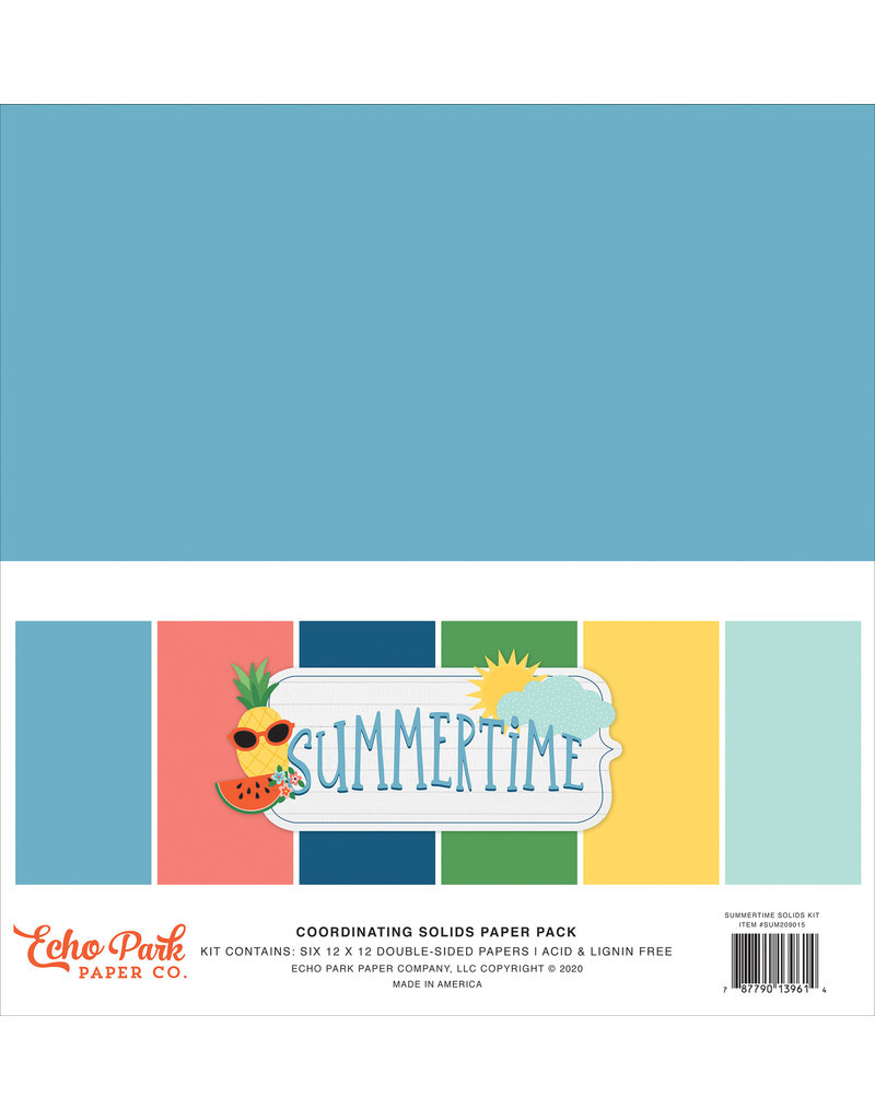 Echo Park EP Paper Pack Summertime Solids Kit