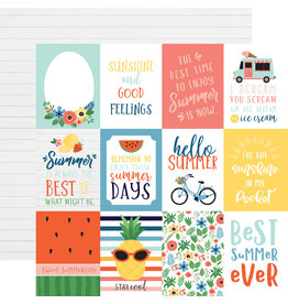Echo Park EP Paper Summertime: 3X4 Journaling Cards