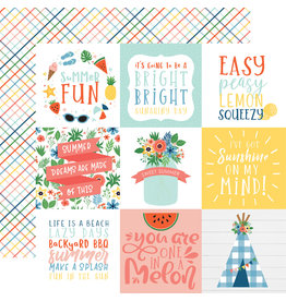 Echo Park EP Paper Summertime: 4X4 Journaling Cards