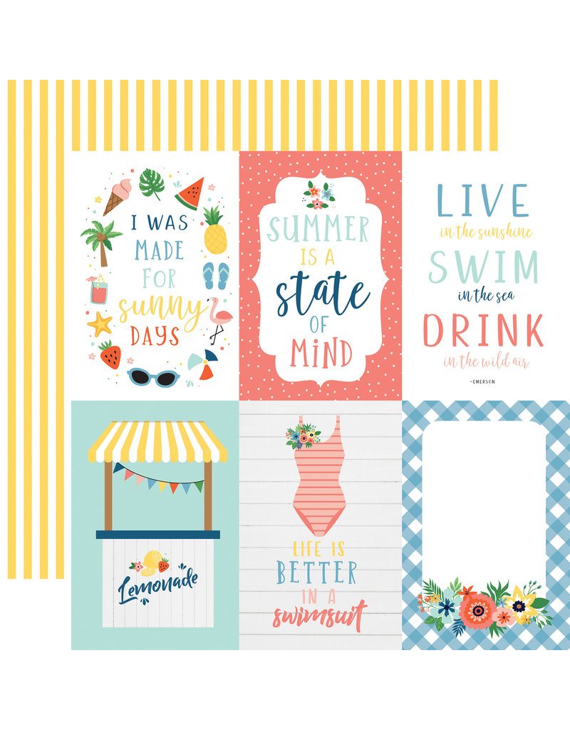 Echo Park EP Paper Summertime: 4X6 Journaling Cards