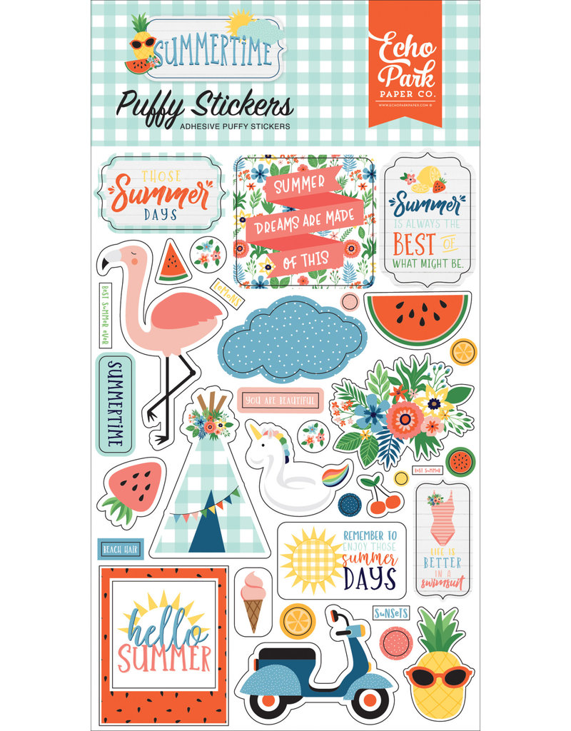 Echo Park EP Summertime Puffy Stickers