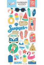 Echo Park EP Dive Into Summer 6x13 Chipboard Accents
