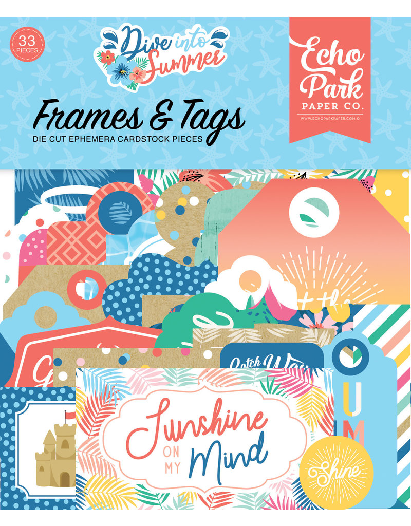 Echo Park EP Dive Into Summer Frames & Tags