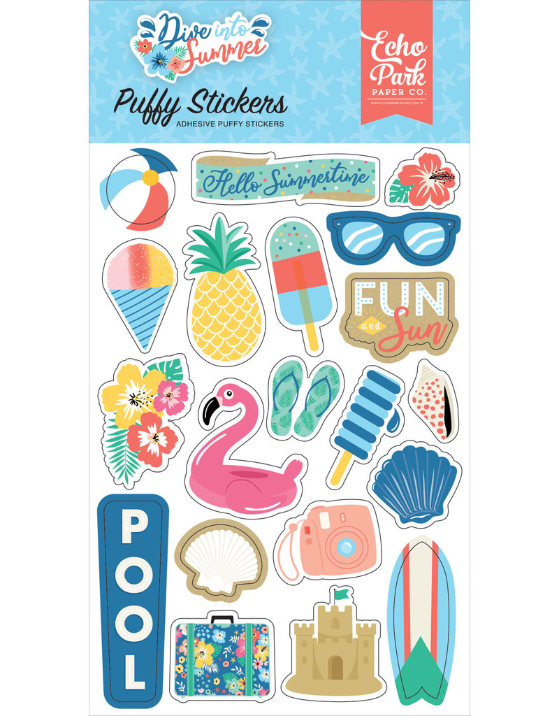 Echo Park EP Dive Into Summer Puffy Stickers