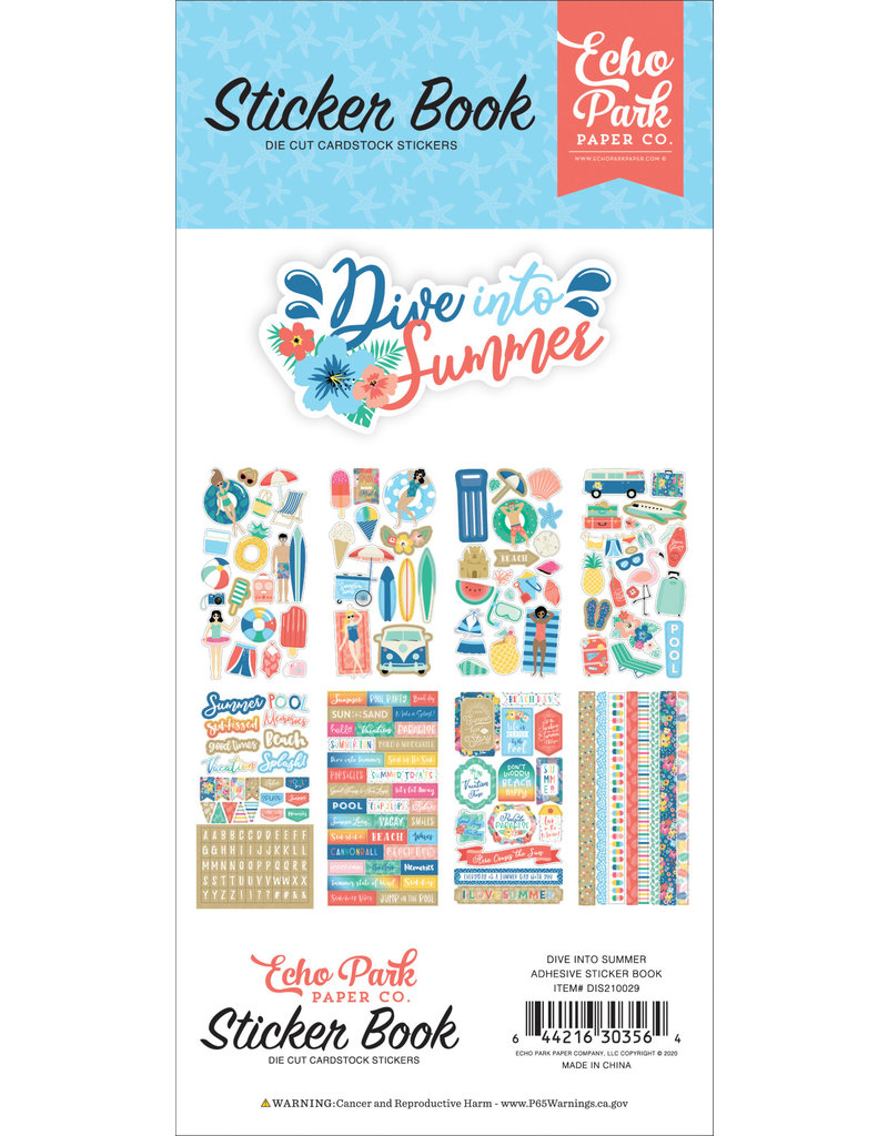 Echo Park EP Dive Into Summer Sticker Book