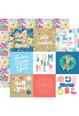 Echo Park EP Paper Dive into Summer: 4X4 Journaling Cards