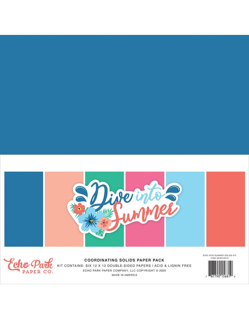Echo Park EP Paper Pack Dive Into Summer Solids Kit