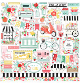 Carta Bella CB Summer Market Element Sticker