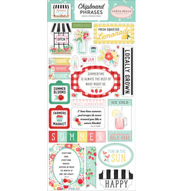 Carta Bella CB Stickers Summer Market 6x13 Chipboard Phrases