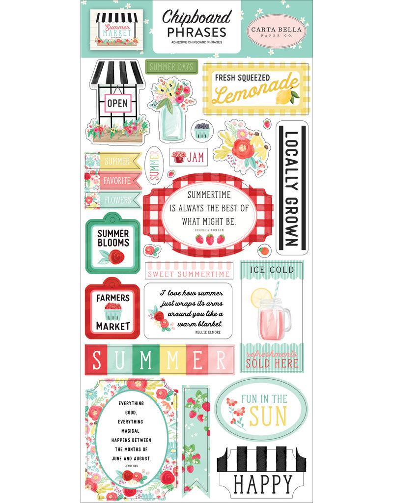 Carta Bella CB Stickers Summer Market 6x13 Chipboard Phrases