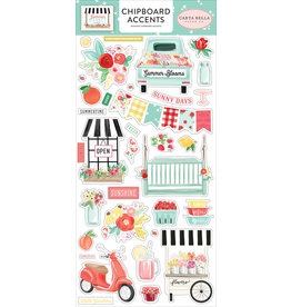 Carta Bella CB Stickers Summer Market 6x13 Chipboard Accents