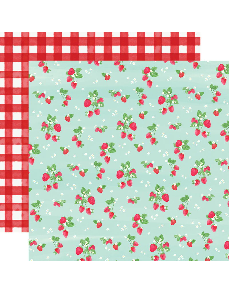 Carta Bella CB Paper Summer Market Strawberries